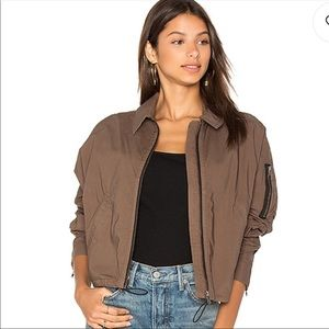 NEW OLIVE BOMBER JACKET BY JAMES PERSE